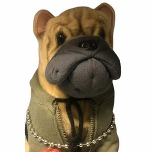 🐶Fuzzy Nation Pug Dog Plush with Cross on Chain